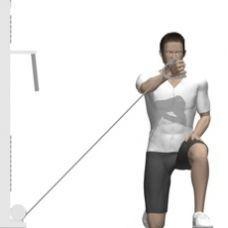 unterer Kabelzug_Flys, von unten, einarmig (Großer Brustmuskel, Schlüsselbeinanteil)