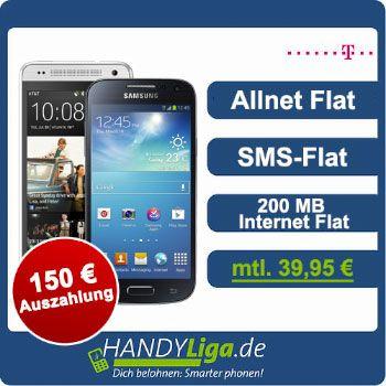 Telekom Allnet Flat mit 150 EUR Auszahlung und TOP Smartphones http://www.simdealz.de/telekom/telekom-allnet-flat-mit-150-eur-auszahlung-und-top-smartphones-13kw34/