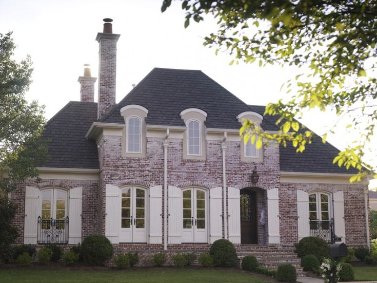 19 best brick and stone exteriors images on pinterest for French country brick exterior