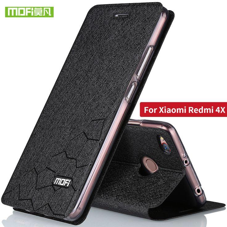 Xiaomi Redmi 4X Case cover Flip leather Xiami Redmi 4x Case Silicone TPU back Original MOFi redmi4x case hard metal 5.0 capas  Price: 9.54 USD