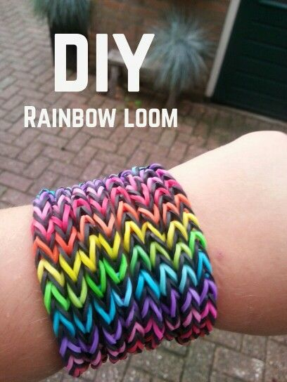 Today I made this huge Rainbow loom bracelet.