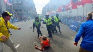 Israeli Flag NOT Doctored Out of Iconic Boston Marathon Photo
