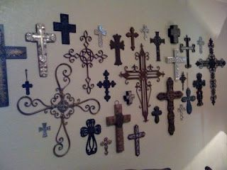I love crosses...I made a Cross Border with all my crosses going around the top of my kitchen and living room. I wanted a change from my cross wall.