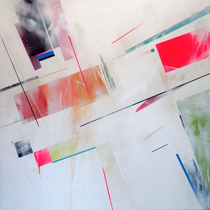 Superficial expression of velocity - 2012  Mixed media on canvas   175cm x 175cm    Private collection