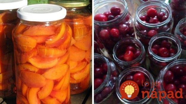 Ovocie zavárané bez cukru a bez nálevu: Zdravé, chutné a výborné hlavne pre cukrovkárov!