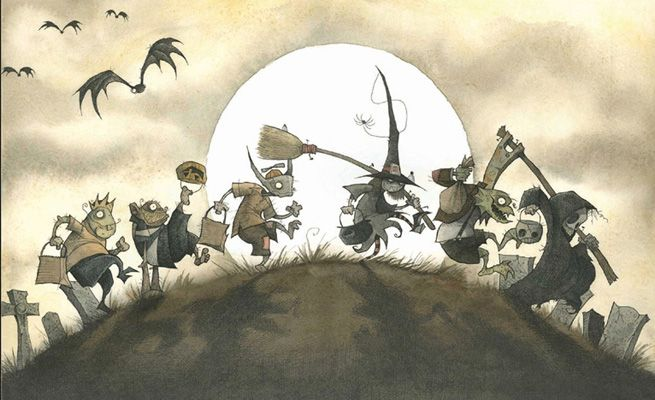 Trick-Or-Treaters by Gris Grimly