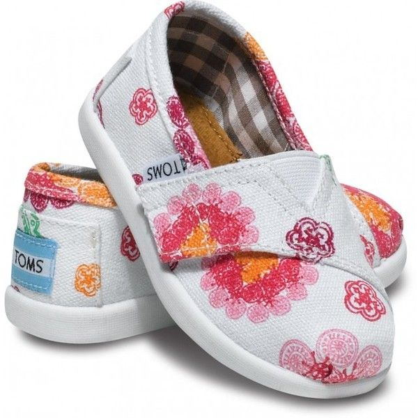 Tiny TOMS Small Paisley Blossom Classic T5 (480 MXN) ❤ liked on Polyvore featuring baby, baby clothes, baby shoes, baby girl and kids