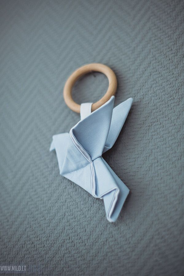 Wooden teething ring toy Origami Crane - Organic teether wood cotton by CotandCot on Etsy https://www.etsy.com/listing/255128313/wooden-teething-ring-toy-origami-crane