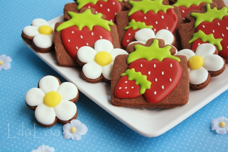 """LilaLoa: Various """"Thank You and no special occasion"""" Cookies - decorating tutorials"""