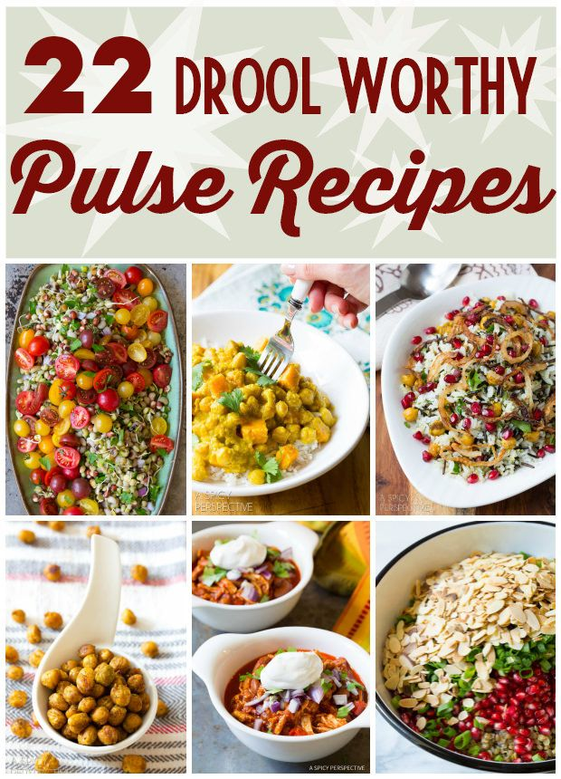 22 Drool-Worthy Pulses Recipes - Made with pulses (lentils, chickpeas, beans, and peas) these dazzling dinner time favorites are sure to warm the belly and