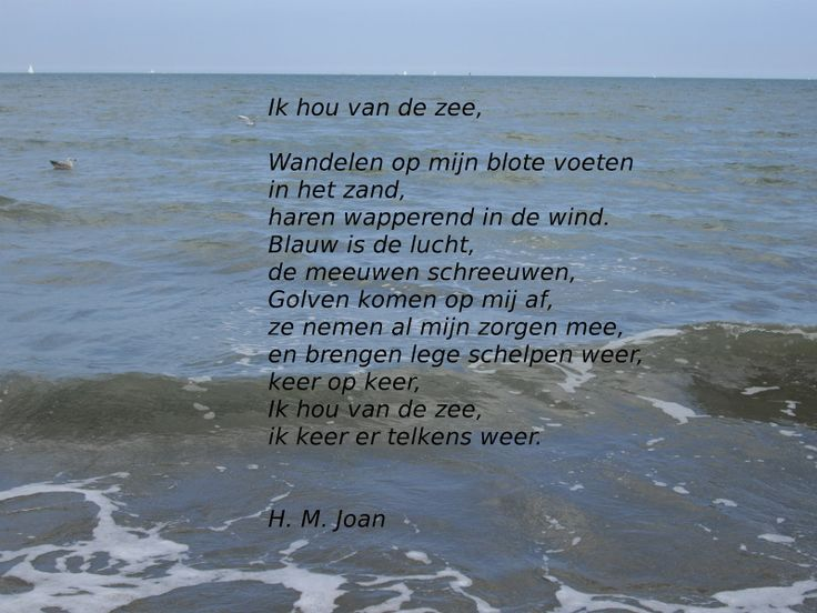 poetry about the sea in Dutch
