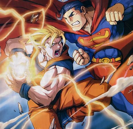 Goku vs Superman heroi x heroi crossover
