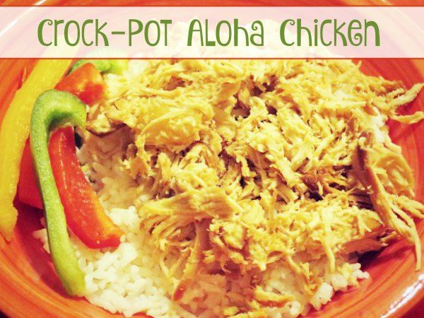 Crock-Pot Aloha Chicken - Make this delicious recipe for Crock-Pot Aloha Chicken in your slow cooker today or prep ahead for a quick and easy crock-pot freezer meal. Your family will love the sweet and tangy chicken served over rice! | from CrockPotLadies.com
