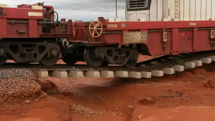 Washed away track after 1 in 100 year rain event in outback South Australia