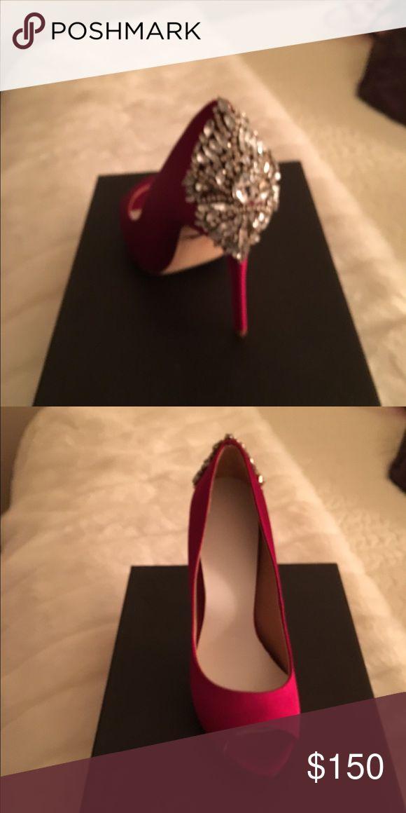 Baffled Mishcka red bling heels new 7 Baffled Mishcka red bling heels new 7 Badgley Mischka Shoes Heels