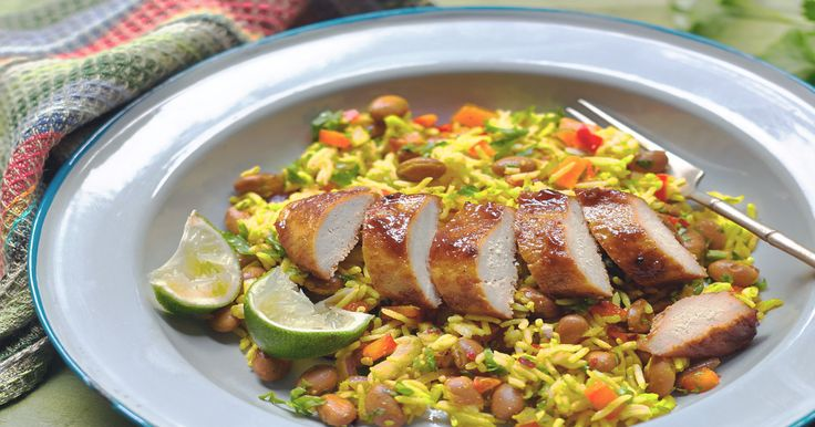 Get inspired & try this delicious and low in saturated fat Meat Free Jerk Chicken Fillet recipe with Quorn Fillets. Enjoy meat free alternatives with Quorn.