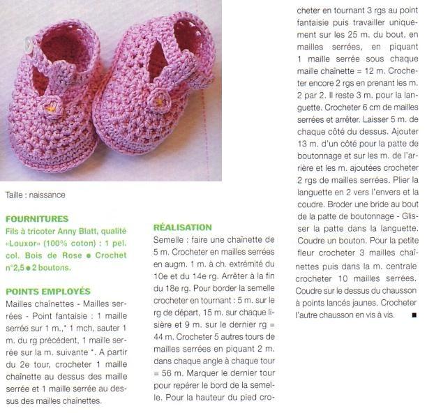 De charmants petits chaussons à crocheter pour bébé dans toutes les couleurs :