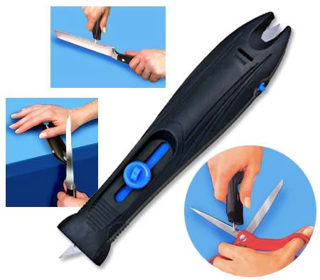 Don't stuck your self on your blunt knife and scissors. There's an easiest way to solve your problem! Professional Ergonomic Knife Sharpener. $2.00