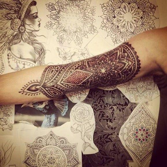 20 Mehndi Inspired Tattoos - Tattoodo.com