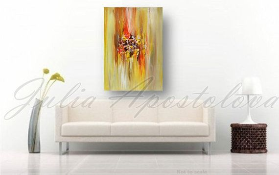 #Abstract #Art #Print on Canvas of Original Abstract Landscape Series Paintings by Julia Apostolova THIS PRINT COMES UNSTRETCHED OR STRETCHED, will came to your home at protec... #originalart #abstract #print #artforsale #trending #art #painting