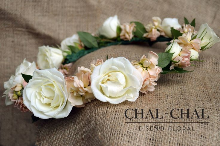 Corona de novia #chalchalflores #CHAL-CHAL