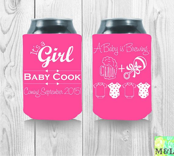 baby shower koozies on pinterest beer bottles themed baby showers