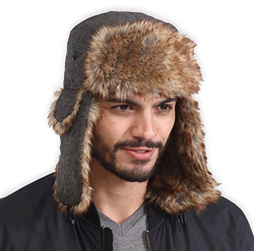 586316a02 New Tough Headwear Trapper Hat with Faux Fur Ear Flaps - Ushanka ...