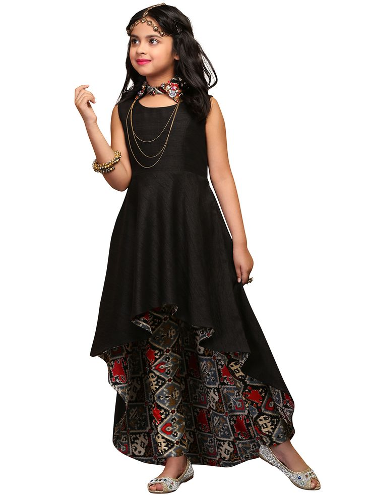 G3 Exclusive Plain Raw Silk Black Party Wear Salwar Suit
