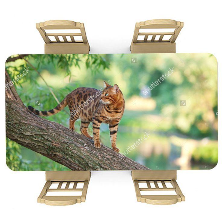 Tafelsticker Cats vs wild   Maak je tafel persoonlijk met een fraaie sticker. De stickers zijn zowel mat als glanzend verkrijgbaar. Geschikt voor binnen EN buiten! #tafel #sticker #tafelsticker #uniek #persoonlijk #interieur #huisdecoratie #diy #persoonlijk #kat #natuur #groen #katten #poes #dier #huisdier