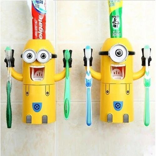 Despicable Me Toothbrush Holder Automatic Toothpaste Dispenser Mount Minions  Set. 20 best minions bathroom images on Pinterest   Kid bathrooms