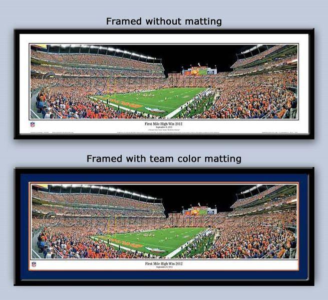 Denver Broncos quarterback Peyton Manning's first win 2012 at the Mile High Stadium