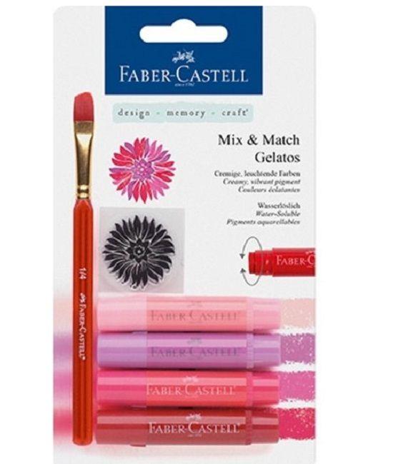 Faber Castell Gelatos - Pigment Sticks - Rood 4 st. €15,79