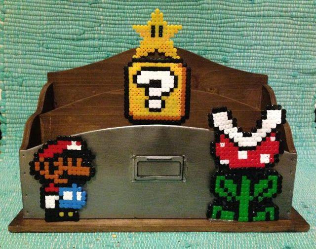 Super Mario Pearler Beads Bügelperlen Schreibtischablage