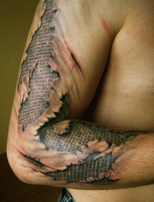 awesome arm tattoo. i could never get anything like this but its still worth pinning!