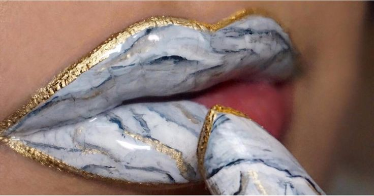 Marble Lips Are the Mesmerizing Makeup Trend We Can't Get Enough Of