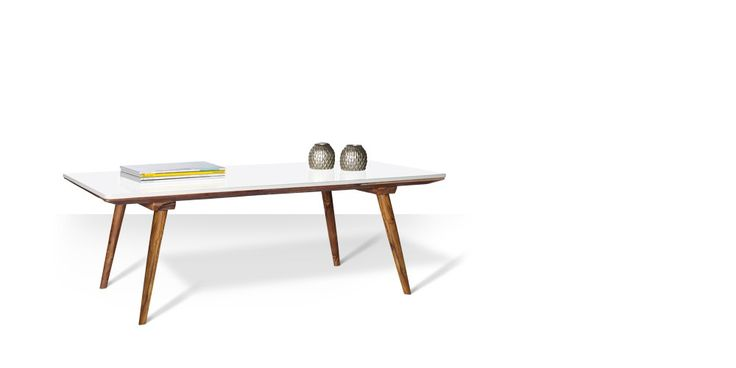 Swoon Editions Mid century coffee table: The Scandi style Fernand in white, just £149