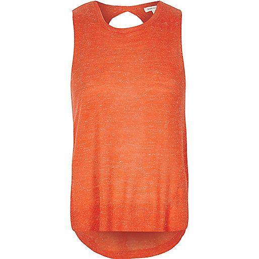 Orange wrap back top - knitwear - sale - women