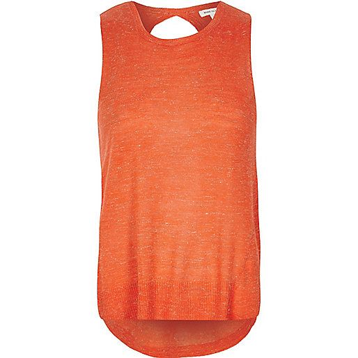 Orange wrap back top - knitwear - sale - women