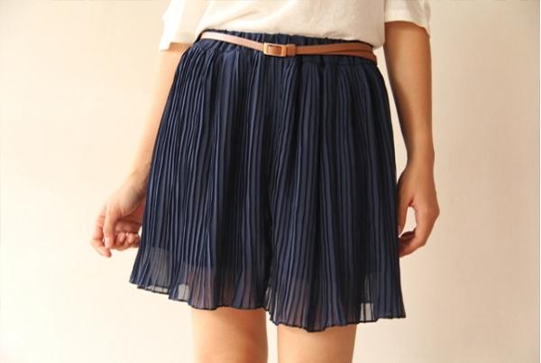 Arora Mini Skirt-Blue