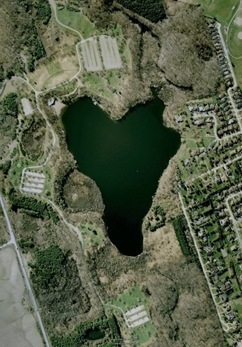 Heart Shaped Lake - located about five miles from Brampton, Ontario in Canada.