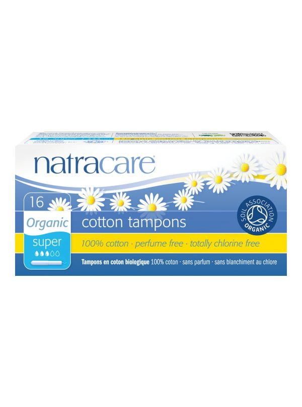 Natracare Applicator Tampons Super Organic £3.19 The smooth, easy glide cardboard applicator has a rounded, petal-shaped end that makes inserting the tampon easier and more comfortable. The applicator is made from totally chlorine-free, biodegradable card.These tampons are great for the environment and great for you