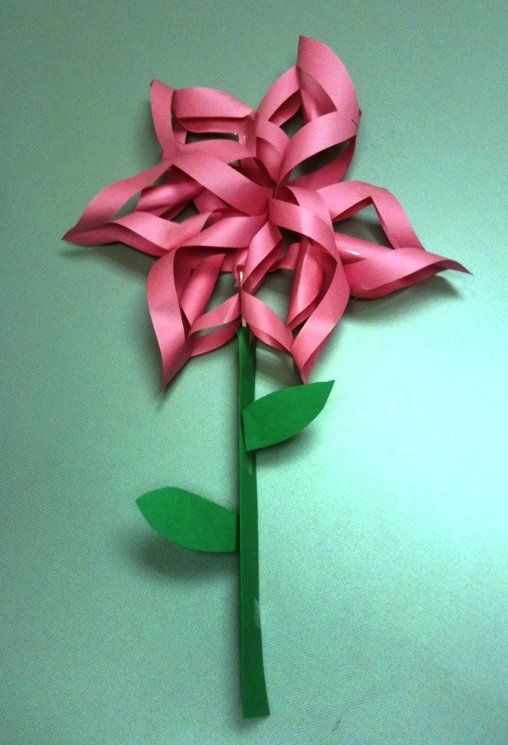 how to make spring flowers out of paper