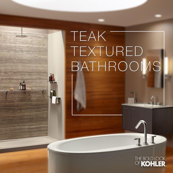 Bathroom Wall Texture Ideas: 41 Best Teak Textured Bathrooms Images On Pinterest