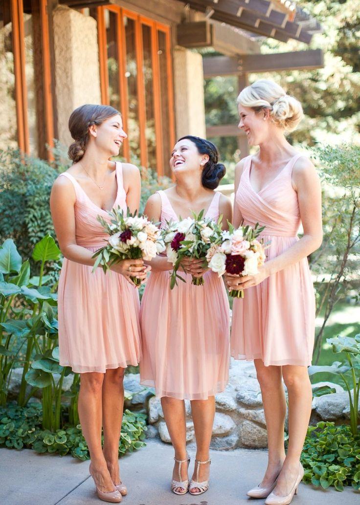 Simple V-neck Princess Short Chiffon Bridesmaid Dress/Wedding Party Dress  CHBD-70982-Simple V-neck Princess Short Chiffon Bridesmaid Dress/Wedding Party Dress  CHBD-70982