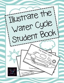 Illustrate the Water Cycle Student Book- This is an original, eight page cut and staple style book describing the steps of the water cycle at a second, third, or fourth grade level. Students will show their understanding by illustrating the steps described and defining key words of your choice in the glossary on the final page. $ #watercycle