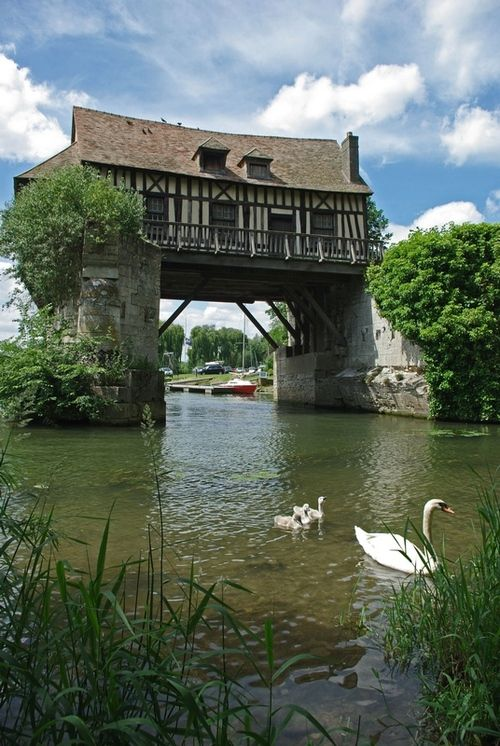 evysinspirations:  (via Vernon Mill, a photo from Haute-Normandie, North | TrekEarth) Vernon, Upper Normandy, France
