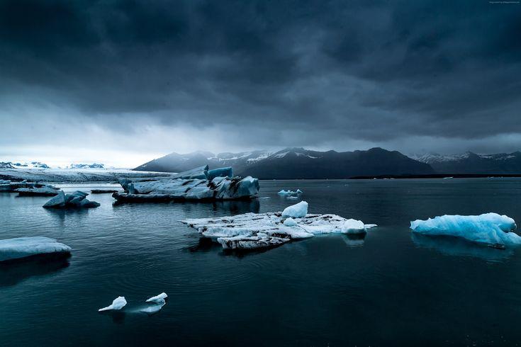 cool Sea ice winter 4k wallpaper