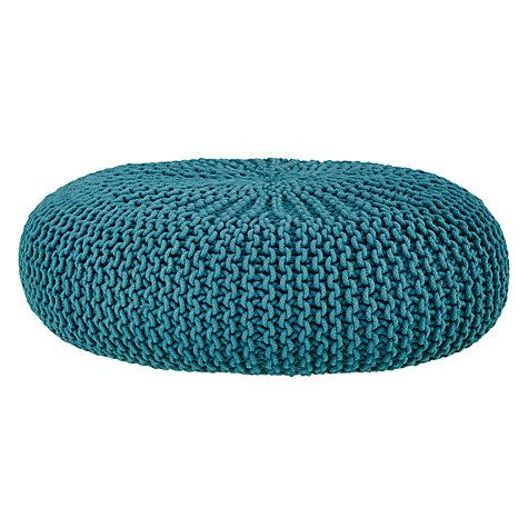 Buy House by John Lewis Knitted Pouffe   John Lewis