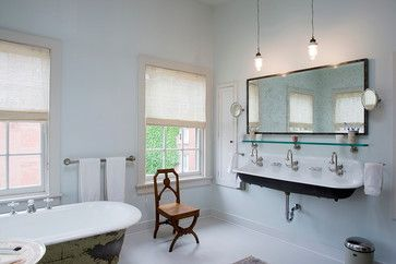 shelf above sink - Utility Sink Bathroom Design Ideas, Pictures, Remodel and Decor