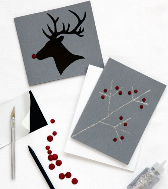 Ideas DIY: felicita la Navidad con las tarjetas más originales